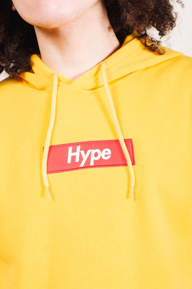 Yellow Hype Checkered Hoodie for Men