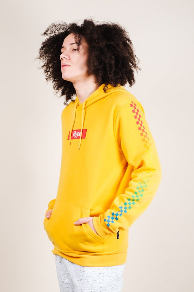 Yellow Hype Checkered Hoodie