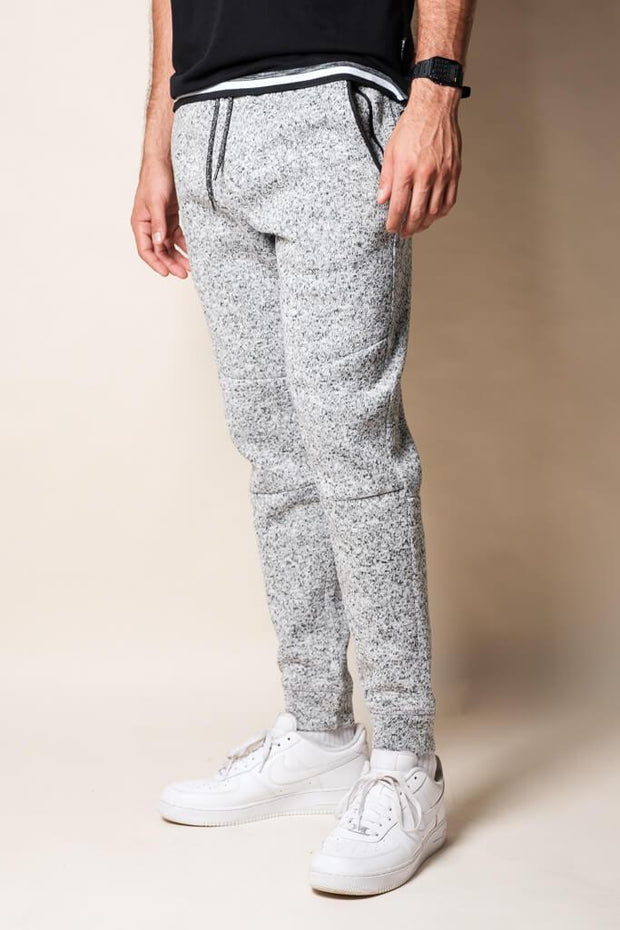 Grey Marl Cozy Knit Jogger Pants