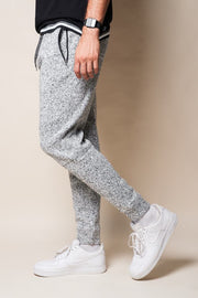 Grey Marl Cozy Knit Jogger Pants for Men