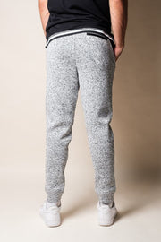 Brooklyn Cloth Men's Grey Marl Cozy Knit Jogger Pants