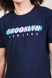 Navy Brooklyn Printed Tee