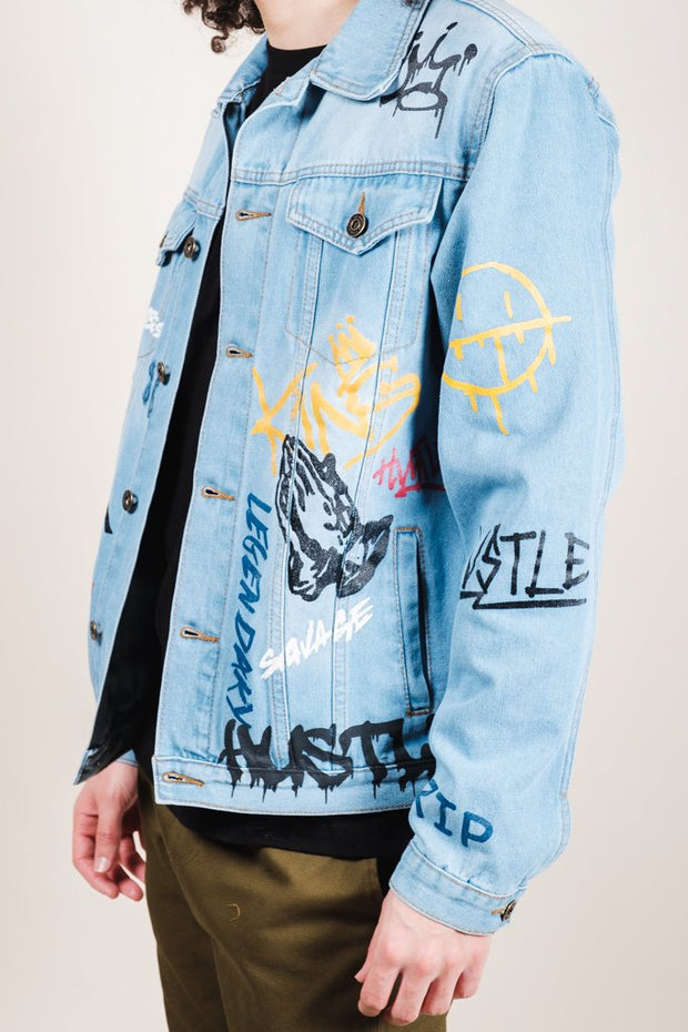 Brooklyn Cloth Graffiti Denim Jacket