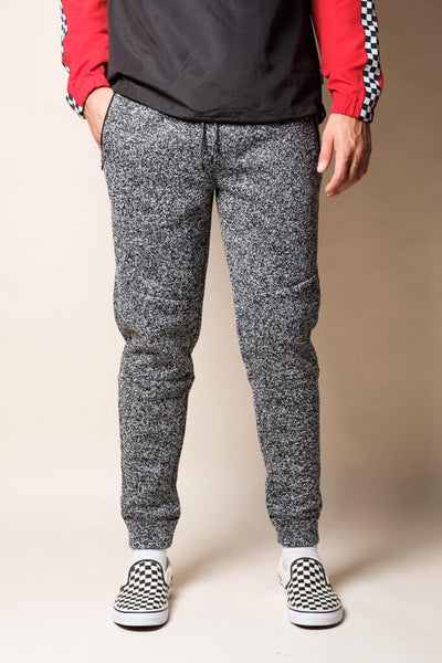 Brooklyn Cloth Black Marl Cozy Knit Jogger Pants