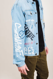 Men's Graffiti Denim Jacket