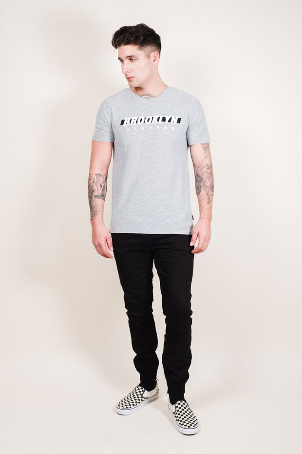 Heather Grey Brooklyn Printed Tee