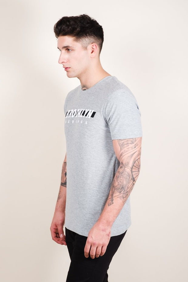 Grey Brooklyn Printed Tee