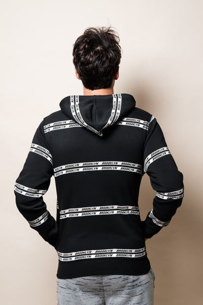 Brooklyn Striped Hoodie