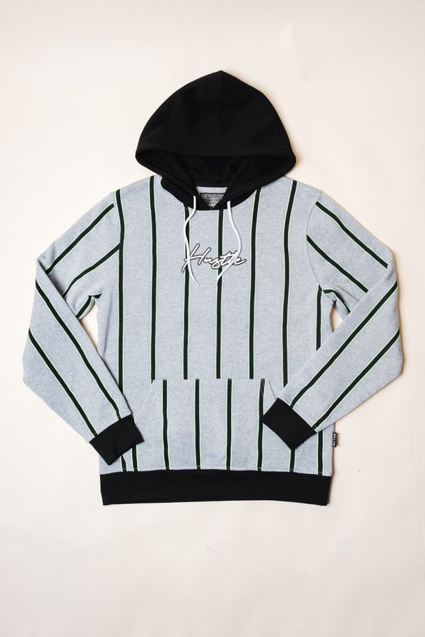 Hustle Vertical Striped Hoodie