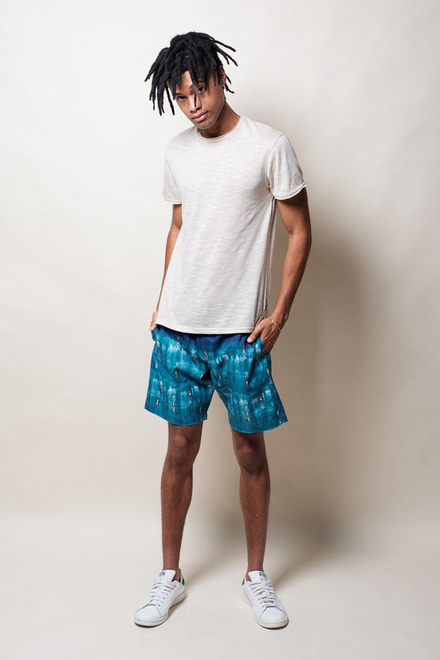 Brooklyn Cloth Surfer Print Swim Trunks for Men
