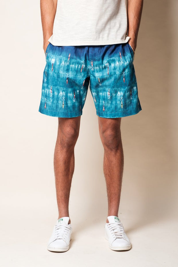 Surfer Print Swim Trunks