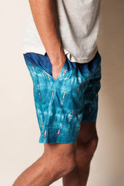 Men's Surfer Print Swim Trunks