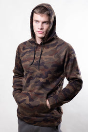 Camo Cozy Knit Hoodie for men