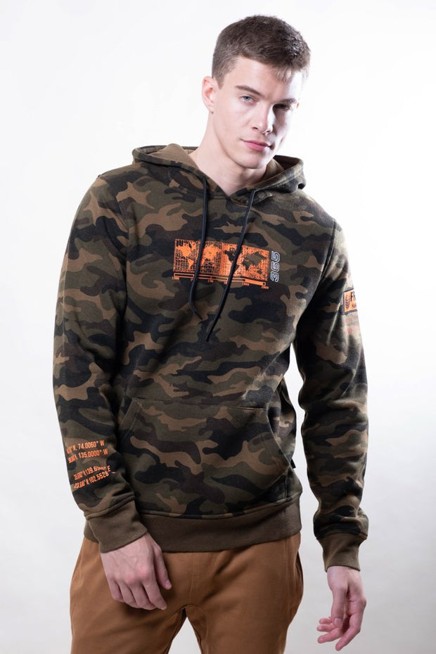 Camo Earth Day Hoodie for Men