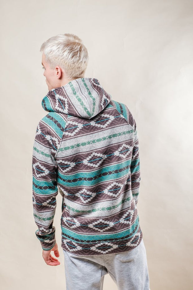 Brooklyn Cloth Teal Baja Quarter Zip Hoodie