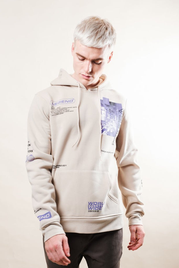 Brooklyn Cloth Putty Legend Doodle Hoodie for Men
