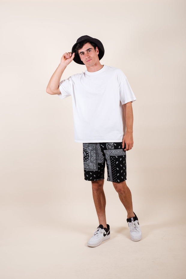 Brooklyn Cloth Light Green Palm Tree Print Woven Shirt for Men
