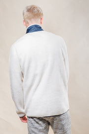 Original Garment Ivory Sherpa Zip Up Jacket