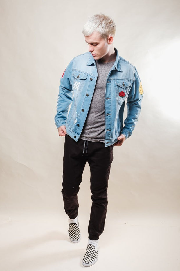 Brooklyn Cloth No Bad Vibes Denim Jacket for Men