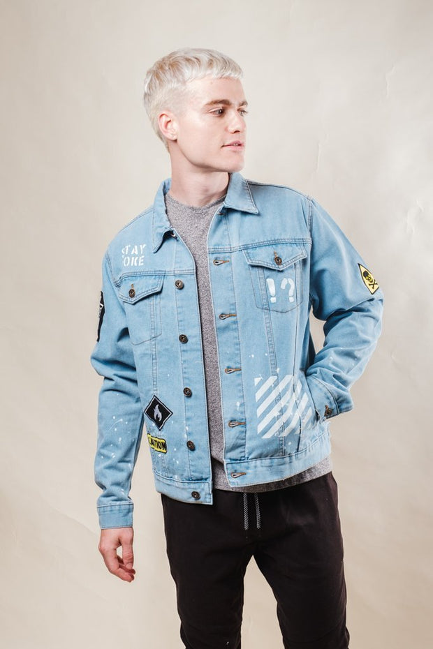 Stay Woke Denim Jacket for Men