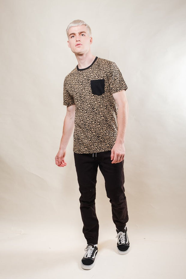 Brooklyn Cloth Leopard Print Tee