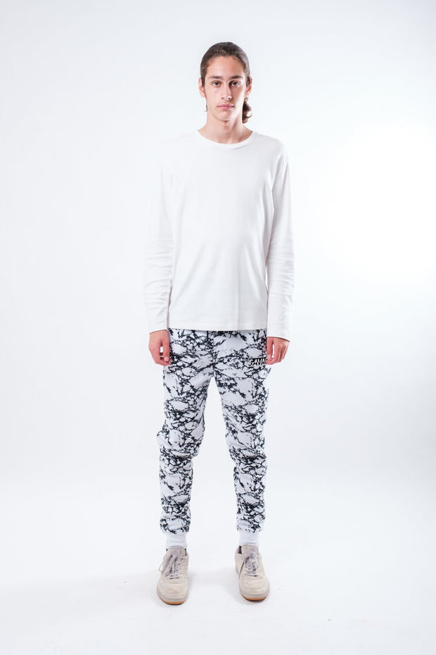 White Marble Savage Jogger