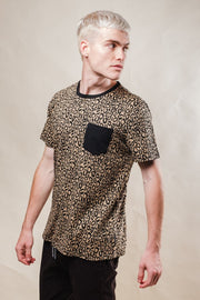 Leopard Print Tee for Men