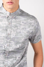 Paintbrush Print Woven Shirt