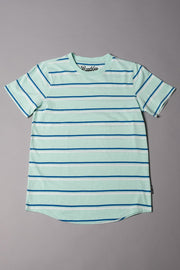 Boys' Mint Double Striped Tee
