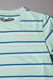 Boys Mint Double Striped Tee