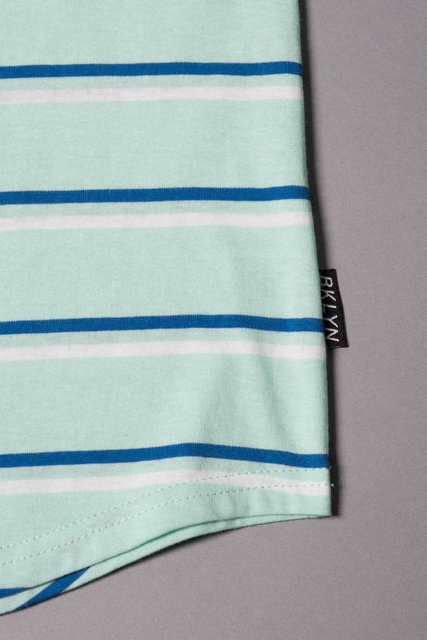 Boys Mint Striped T-Shirt at Brooklyn Cloth
