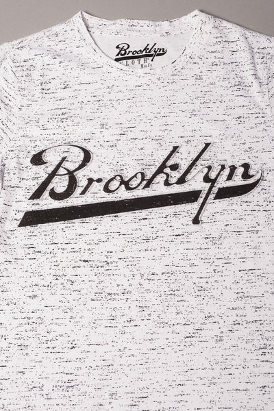 Boys' White Brooklyn Embossed Tee