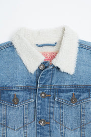Boys Sherpa Collar Denim Jacket