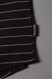 Boys Black Rose Striped T-Shirt at Brooklyn Cloth