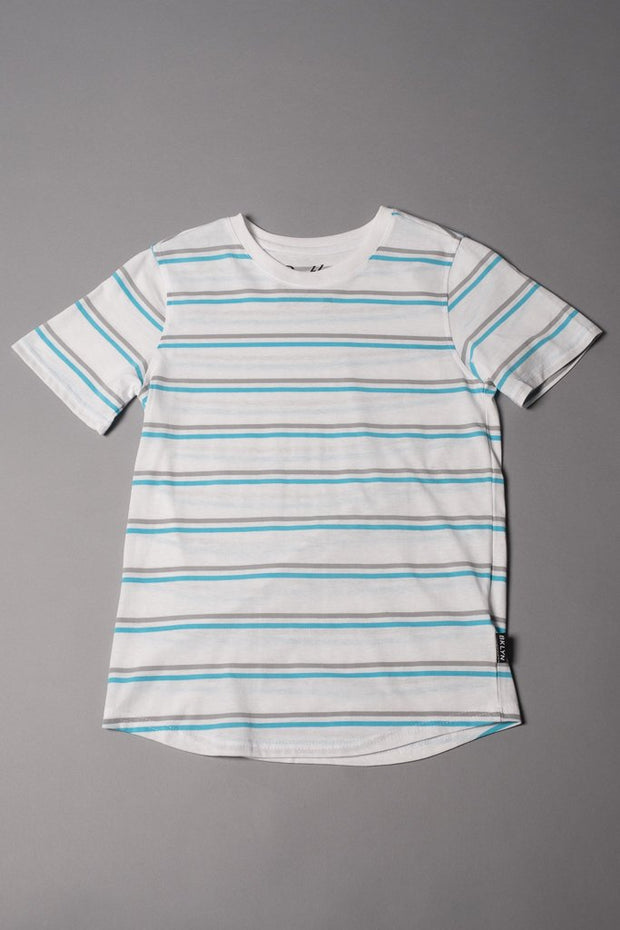 Boys White Striped T-Shirt