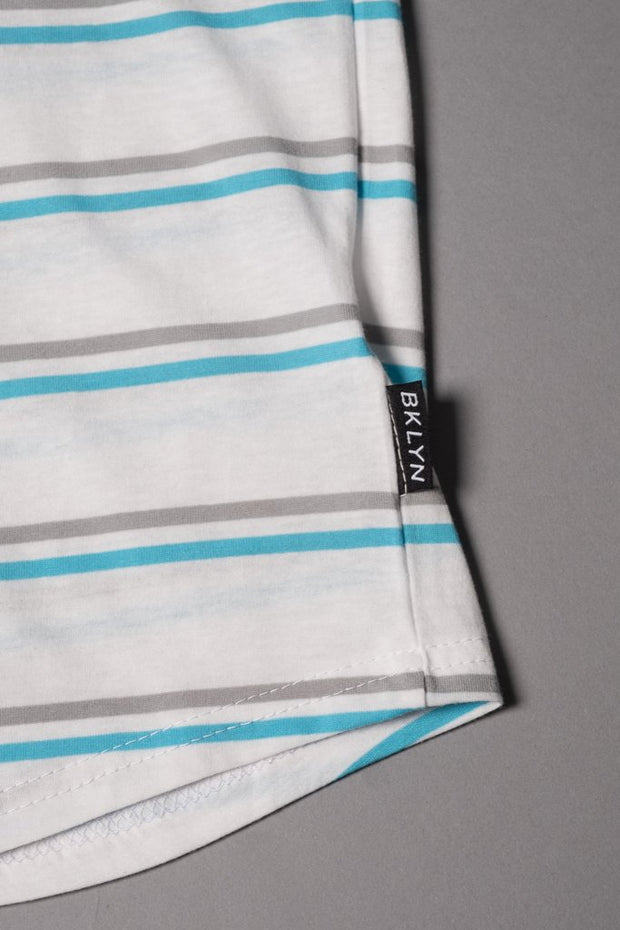 Boys White Striped T-Shirt at Brooklyn Cloth