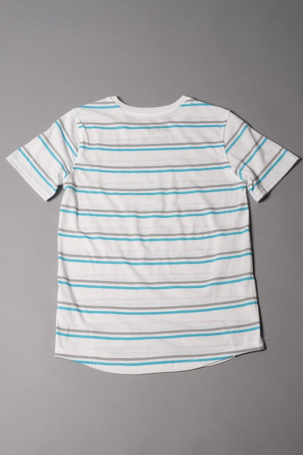 Brooklyn Cloth Boys White Striped T-Shirt
