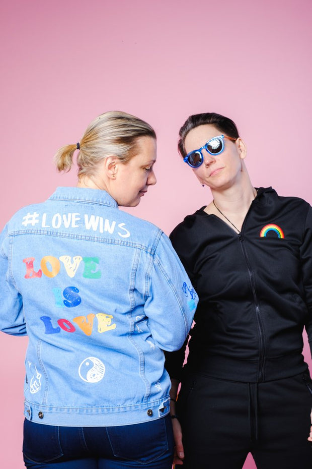 Brooklyn Cloth Pride Love is Love Denim Jacket