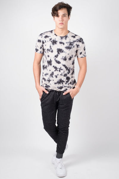 Brooklyn Cloth Black Tie Dye Tee for Men