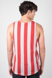Men's Grey American Flag Tank Top