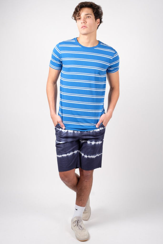 Men's Royal Blue Stripe Tee at Brooklyn Cloth