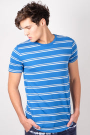 Royal Blue Double Stripe Tee