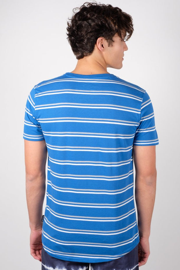 Royal Blue Double Stripe Tee at Brooklyn Cloth