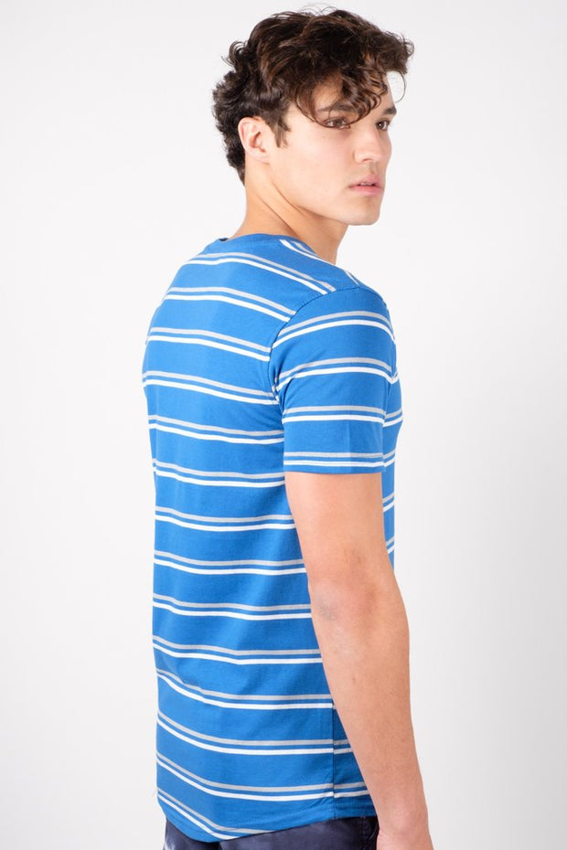 Royal Blue Stripe Tee for Men