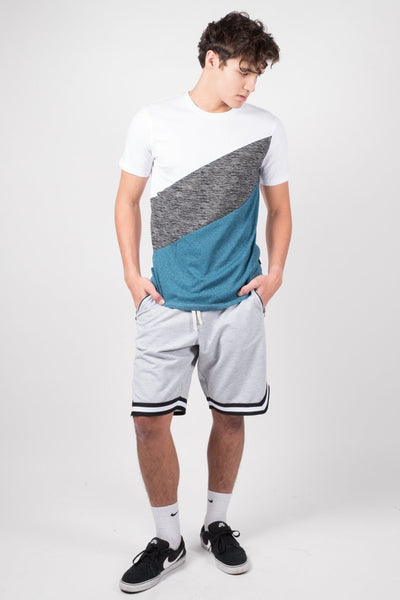Brooklyn Cloth Heather Grey French Terry Basketball Shorts for Men