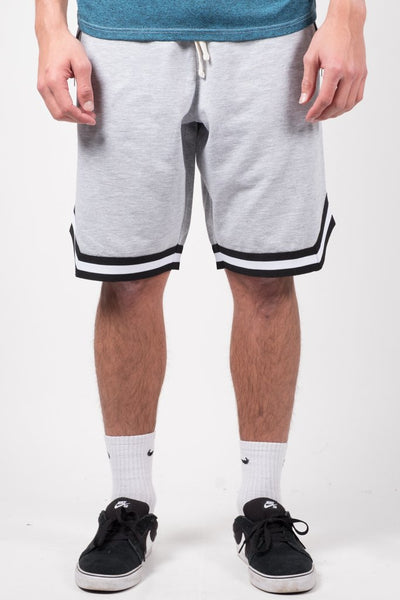 Heather Grey French Terry Basketball Shorts