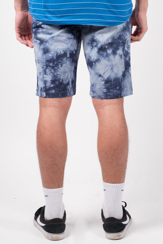 Brooklyn Cloth Navy Tie Dye Poplin Shorts for Men