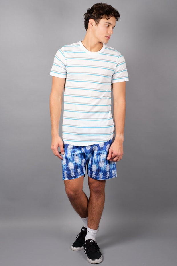 White Stripe Tee for Men at Brooklyn Cloth