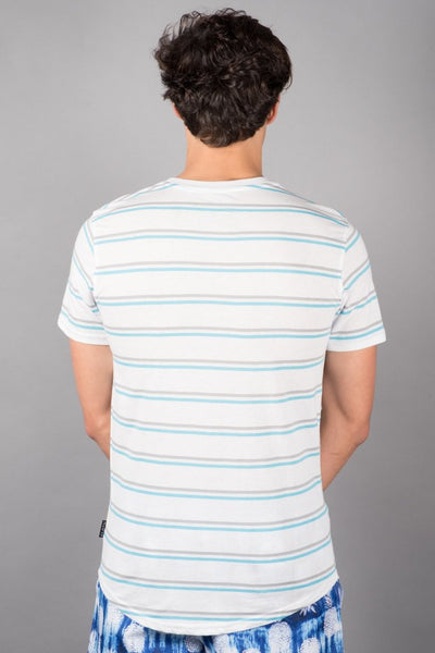 White Stripe Tee