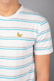 Banana Embroidered Stripe Tee
